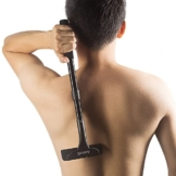 Anicoll Rückenrasierer verstellbar! mit 2- Klingen, Rasierbügel/Köper Rasierer 14.4 Zoll bis zu 19.5 Zoll retractable, super zu speichern und verwenden - 1