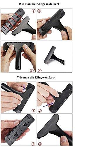 Anicoll Rückenrasierer verstellbar! mit 2- Klingen, Rasierbügel/Köper Rasierer 14.4 Zoll bis zu 19.5 Zoll retractable, super zu speichern und verwenden - 6
