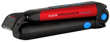 MANGROOMER Lithium Max Back Shaver with 2 Shock Absorber Flex Heads, Power Hinge, Extreme Reach Handle and Power Burst - 10