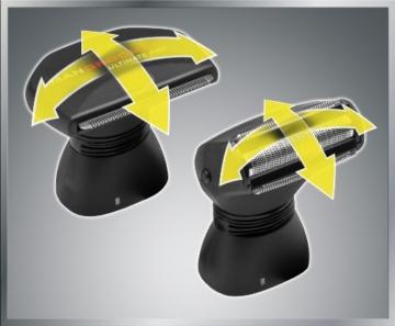 MANGROOMER Ultimate Pro Back Shaver with 2 Shock Absorber Flex Heads, Power Hinge, Extreme Reach Handle and Power Burst by Mangroomer (Marut Enterprises, LLC) - 2