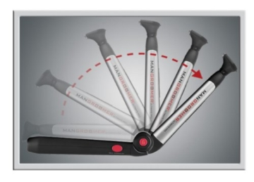 MANGROOMER Ultimate Pro Back Shaver with 2 Shock Absorber Flex Heads, Power Hinge, Extreme Reach Handle and Power Burst by Mangroomer (Marut Enterprises, LLC) - 20