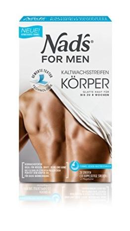 Nad's Kaltwachsstreifen Körper für Männer, 20 Stück - 1