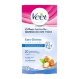 Veet Kaltwachsstreifen Easy-Gelwax Technology Beine & Körper für sensible Haut, 20 Stück - 1
