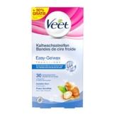 Veet Kaltwachsstreifen Easy-Gelwax Technology Beine und Körper für sensible Haut, Vorteilspack, 30 Stück (10 Stück gratis) - 1