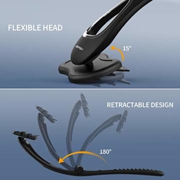 Rückenrasierer Männer Körperrasierer - Liberex Verstellbarer Rückenhaarentferner mit 3 Rasierklingen, Schmerzfreie Haarentfernung, Back Shaver, Rückenhaar Rasier mit Ergonomischem langem Griff - 5