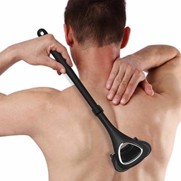 Rückenrasierer Männer Körperrasierer - Liberex Verstellbarer Rückenhaarentferner mit 3 Rasierklingen, Schmerzfreie Haarentfernung, Back Shaver, Rückenhaar Rasier mit Ergonomischem langem Griff - 2